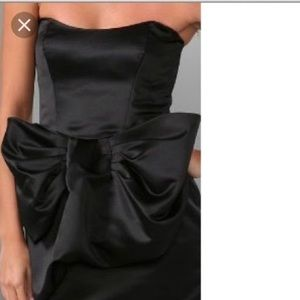Foley + Corinna Satin Strapless Bow Dress